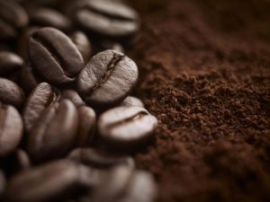 ground coffee beans