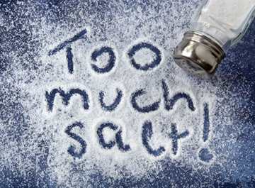 how to lose water weight eat less salt
